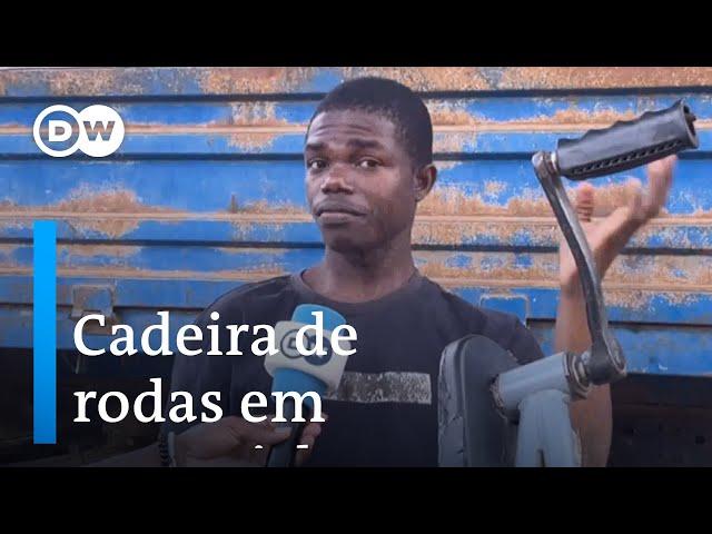 Angola: Jovem com deficiência transforma cadeira de roda em motocicleta