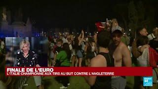 """Finale de l'Euro-2021 : les Anglais """"sous le choc"""" après la victoire de l'Italie • FRANCE 24"""