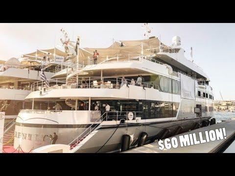 $60 MILLION F1 SUPER-YACHT TOUR!!