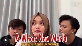 Rizky Febian Putri Delina Rizwan A Whole New World Rizwan Nyanyi Bagus Banget