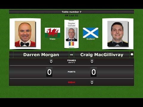 Snooker 6 reds Last 32 : Darren Morgan vs Craig MacGillivray