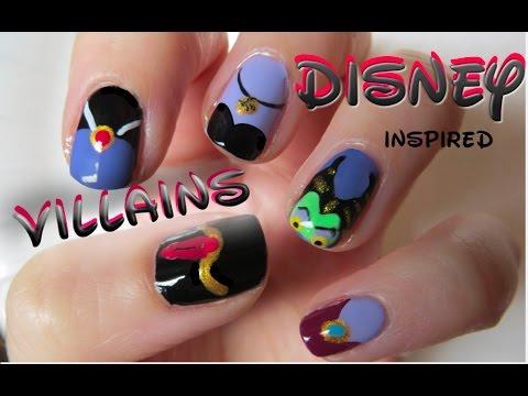 Disney Villain Nails Halloween Nail Art Youtube