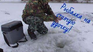 Рыбалка на реке Оке на СТОЯЧУЮ УДОЧКУ конец декабря 2020