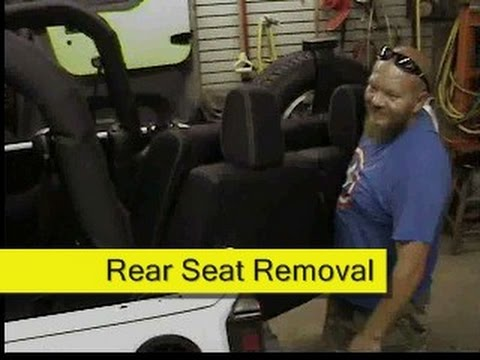Jeep Wrangler Jk Rear Seat Removal How To Diy Youtube