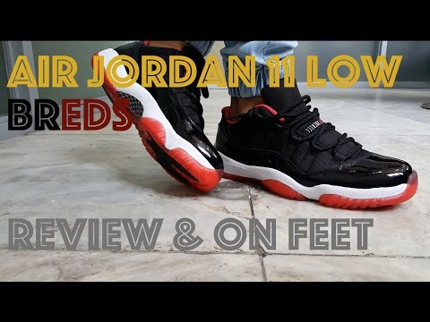 Air Jordan 11 Bred Low / J11 Low Breds : Review & On Feet