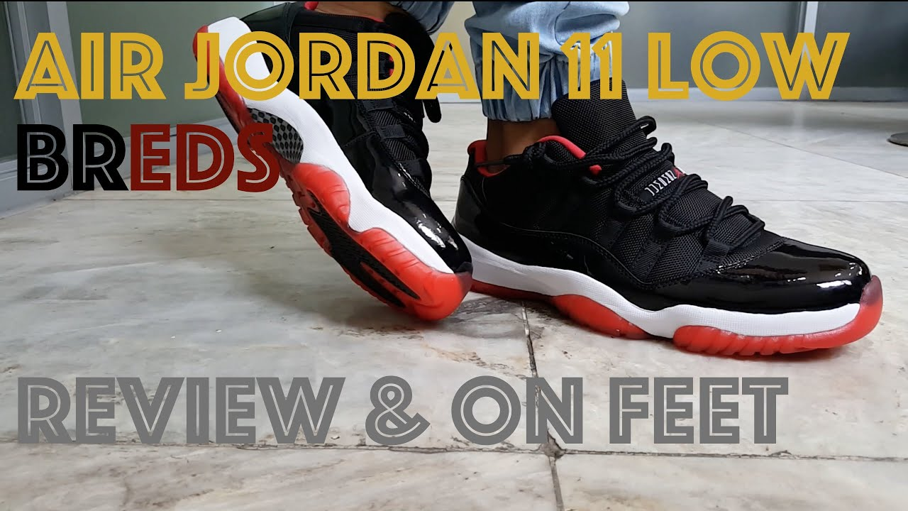 8112ce741340c8 Air Jordan 11 Bred Low   J11 Low Breds   Review   On Feet - YouTube