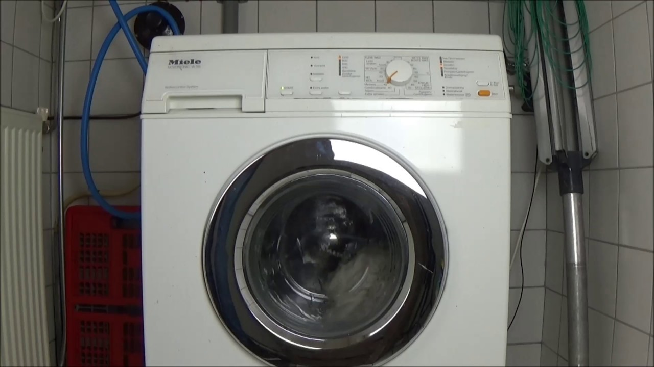 miele novotronic w 315 washing machine washer test example rh youtube com Miele Stackable Washer Dryer Miele Laundry