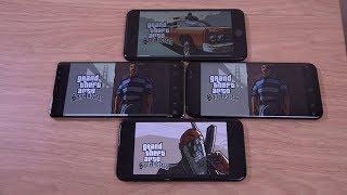 iPhone X vs Samsung Galaxy S8 vs Note 8 vs iPhone 8 - Gaming Comparison!