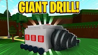 GIANT WORKING DRILL In Build A Boat For Treasure In Roblox