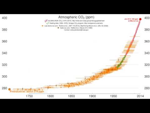Time History of Atmospheric CO2 | B L Nelson