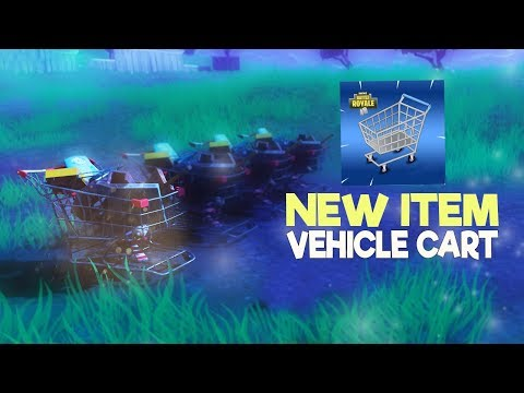 New SHOPPING CART VEHICLES In Fortnite Battle Royale! GAMEPLAY FOOTAGE