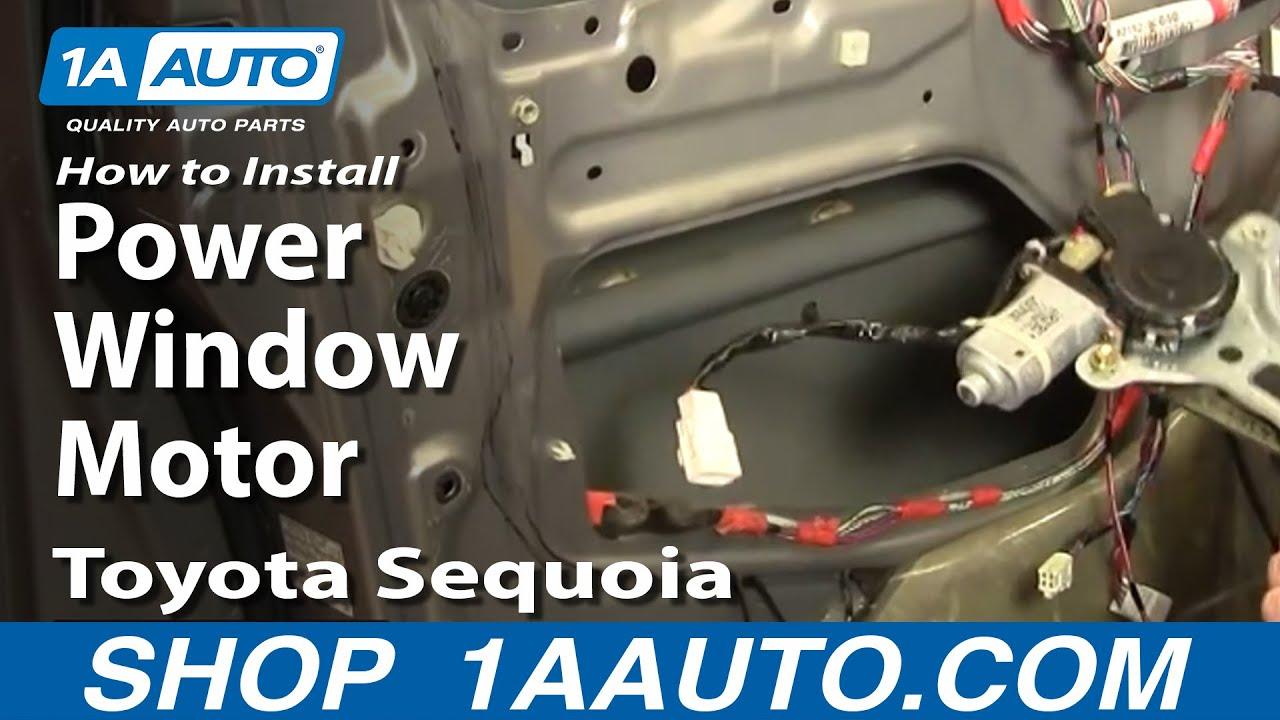 How to install replace power window motor toyota sequoia for 2001 silverado window motor replacement