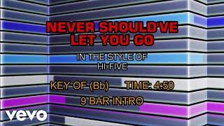 Hi Five - Never Should've Let You Go (Karaoke)