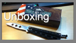 Butterfly Knife Unboxing! (Bear & Son 5 inch Butterfly Trainer)