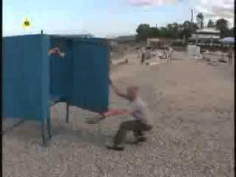 hidden camera bathroom in beach - YouTube