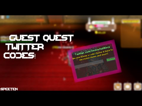 2018 New Roblox Guest Quest Restored Twitter Codes Read Desc Updated Youtube