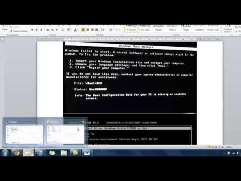 Reparar Inicio Windows Vista Hirens Boot