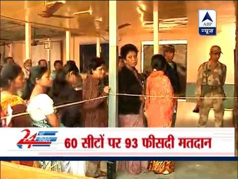 93 per cent voting in Tripura