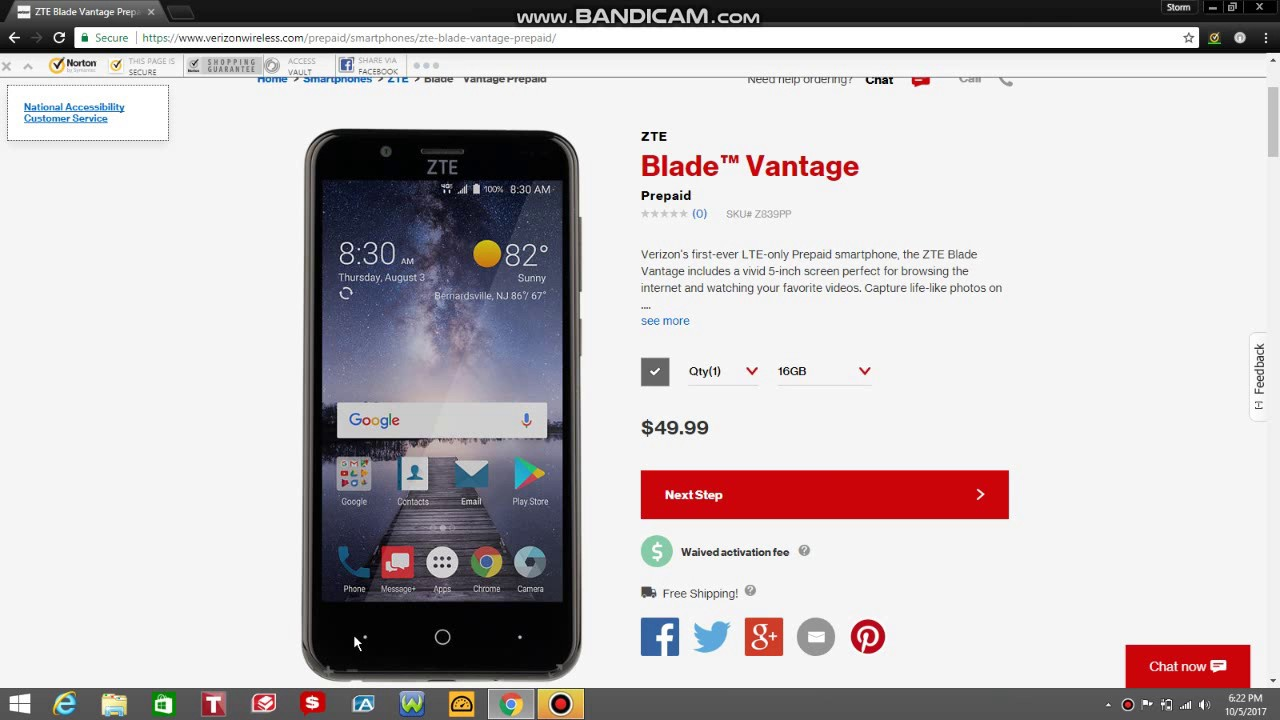 ZTE Blade™ Vantage | Verizon Prepaid