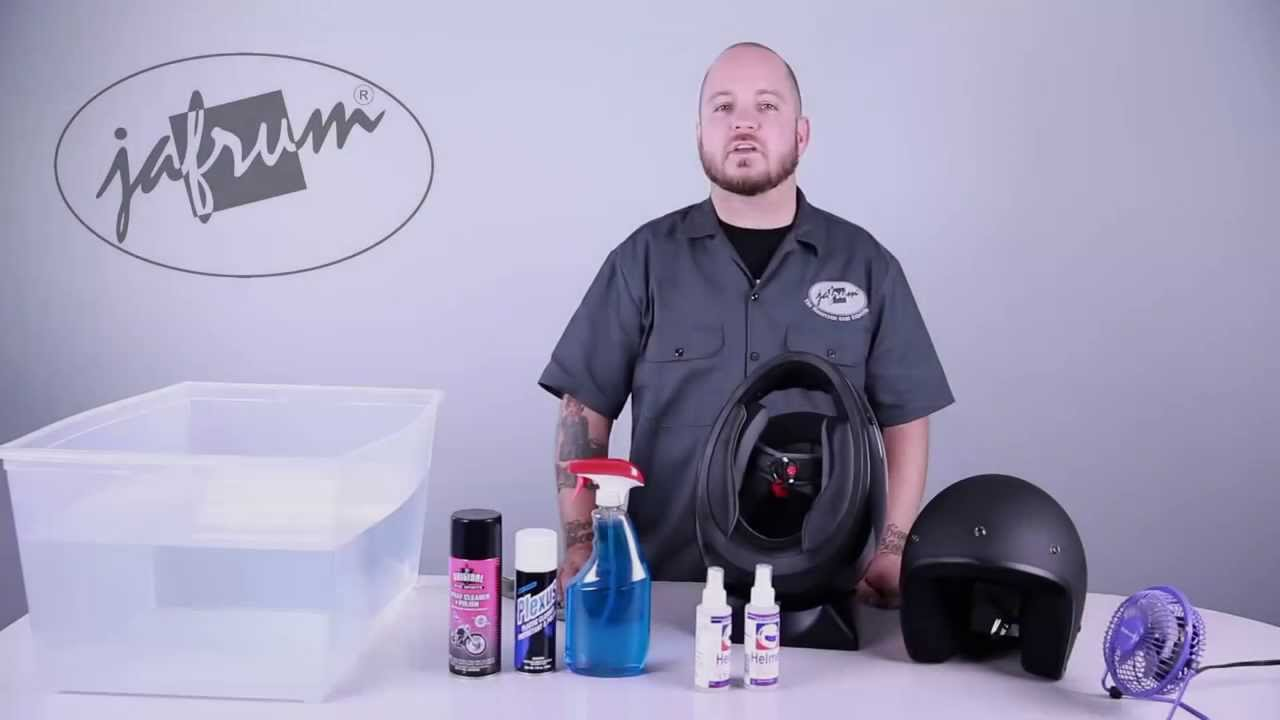 26572926 How To Clean a Motorcycle Helmet - Jafrum.com - YouTube
