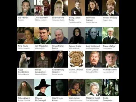 todos os personagens e elenco de harry potter youtube todos os personagens e elenco de harry potter
