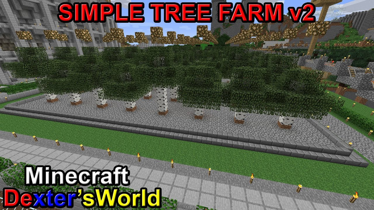 minecraft how to build a tree farm