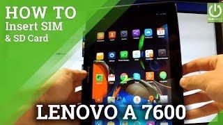 Insert SIM & SD Card in LENOVO A7600 - Set Up SIM and MicroSD Card