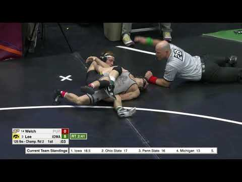 2018 NCAA Wrestling 125lbs: Spencer Lee (Iowa) Tech Fall Luke Welch (Purdue)