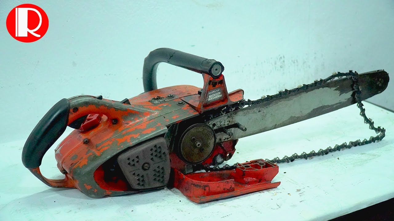 Restoration Chain Saw Homelite old - Restorating Chain Saw Rusty