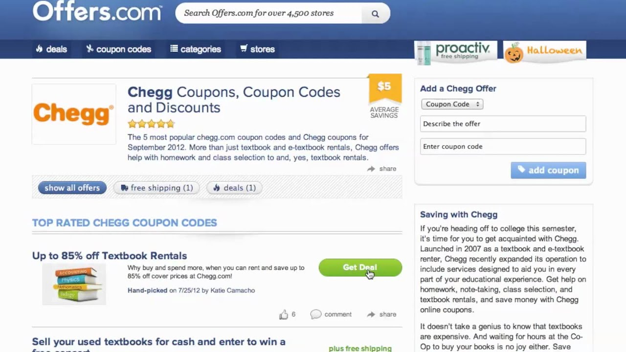 In this post of Chegg coupons, we shall discuss Chegg promo code. Chegg Promo Code. Chegg is not only a great place for school students but also for college and university students as well.