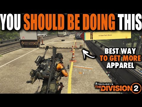 THE APPAREL FARMING SPOT DIVISION 2 PLAYERS SHOULD BE DOING