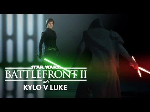 Kylo Ren vs Luke Skywalker // Battlefront 2 lightsaber duel