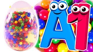 Giant Surprise Eggs Opening | Learn Colors & ABC Song for Children with Learning Toys & Kids Songs