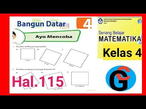 Ayo Mencoba Hal 115 Keliling Persegi Matematika Kelas 4 Sd Youtube