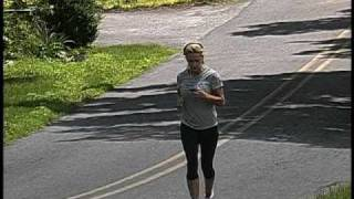 Kate Gosselin jogging on a road near her house in Reading, Pa.