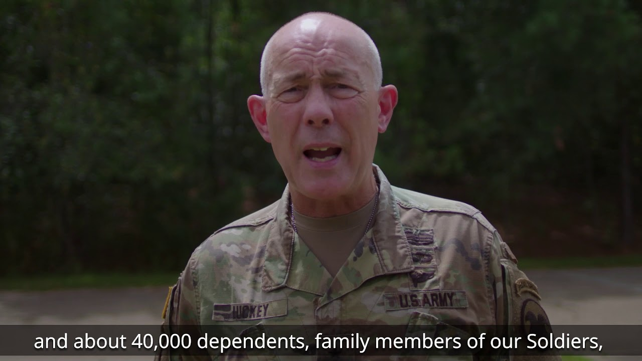 LTG Charles D. Luckey, Chief of Army Reserve and Commanding General, U.S. Army Reserve Command, informs Soldiers and their Families about the importance of personnel accountability in the wake of Hurricane Dorian using the ADPAAS system.