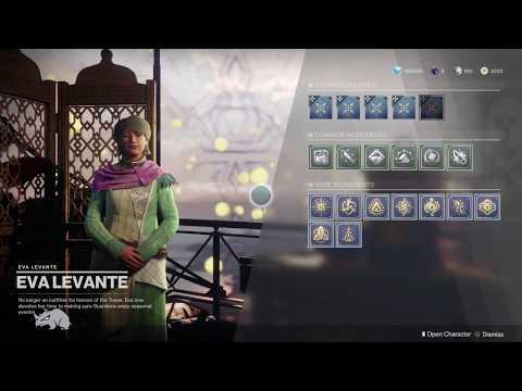 Destiny 2   The Black Armory   The Dawning Event   Eva's Holiday Oven Recipes   Hunter
