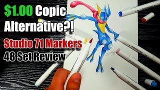 STUDIO 71 Sketch Marker Review - 48 Pack | Cheap Copic Alternative?