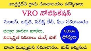 VRO నోటిఫికేషన్ అర్హతలో షాకింగ్