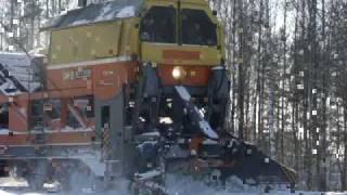Снегоуборочная машина СМ2(Снегоуборочная машина возле станции Горино. Ивановская обл, Сев. ЖД. 16/02/2010., 2010-02-20T18:11:48.000Z)