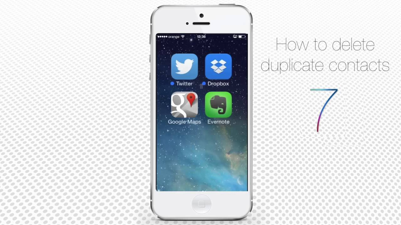 how to delete a contact on iphone how to delete duplicate contacts on iphone and ios7 19947