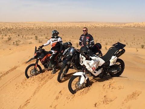 Motorcycle enduro adventure Tunisia. Yamaha XT660Z Tenere