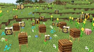 Фото Пчелы работают за нас? SkyBlock Minecraft  с индустриальными модами