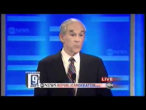 Ron Paul Highlights ∞ New Hampshire ABC Debate(2/2) Yahoo WMUR 1/7/12 Revolution