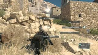 MGSV:TPP Gameplay - Clearing a free-roam outpost with perfect stealth - NO SPOILERS