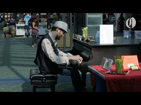 Airport piano players provide relaxation where you least expect it