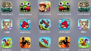 Temple Run 2,Zombies Tsunami,Subway Surfer,Little Kitten,Angry Birds,Hill Climb 2,Jetpack, Joyride