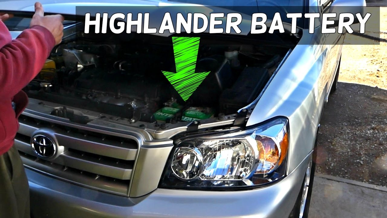 TOYOTA HIGHLANDER BATTERY REMOVAL REPLACEMENT - YouTube