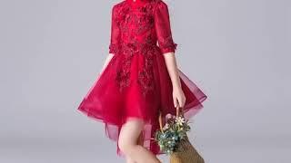 Детское кружевное тюлевое платье для дня рождения в китайском стиле девочек; бальные платья