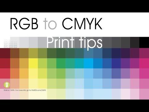 RGB to CMYK print tips